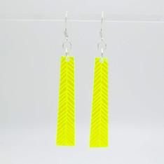 Yellow acrylic geometric earrings