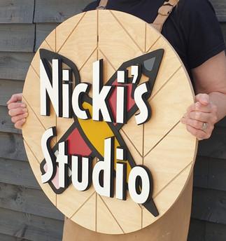 Nicki's studio sign