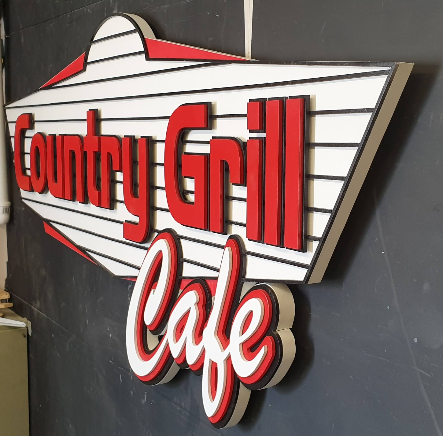 Country Grill Cafe sign