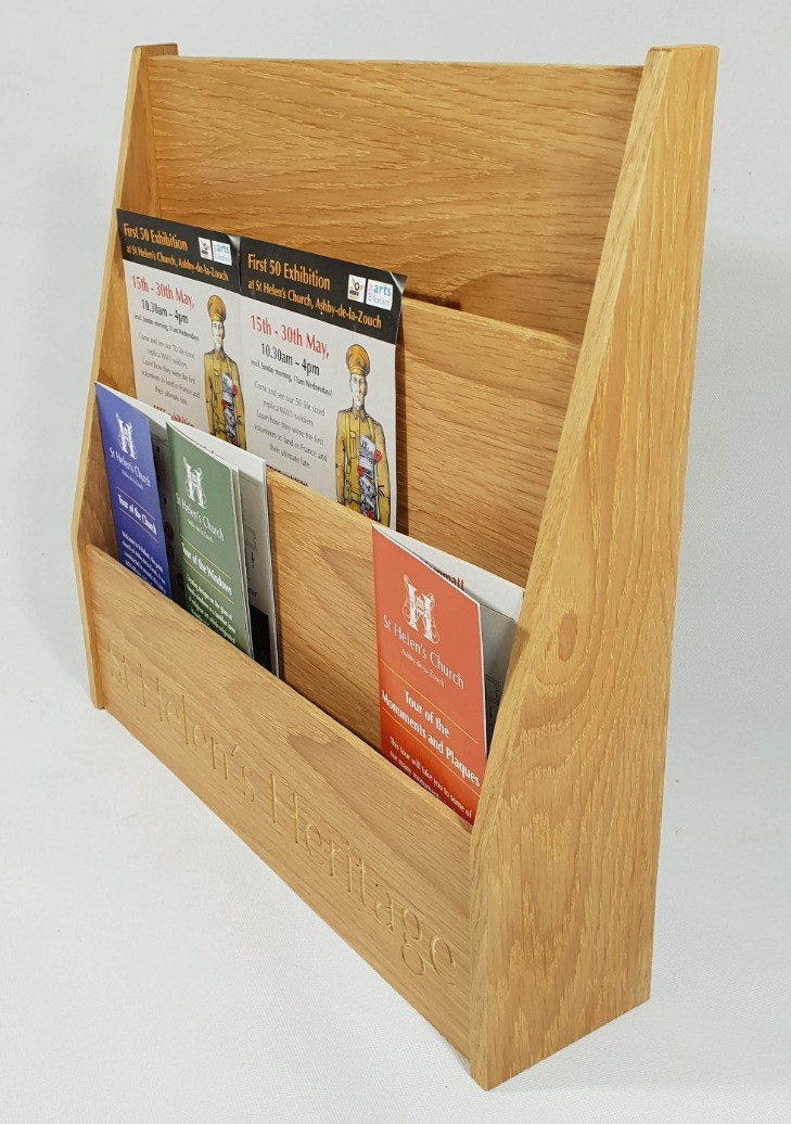 St Helens Oak literature holder