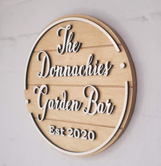 Personalised Garden bar sign
