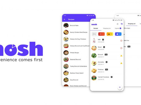 NOSH TECHNOLOGIES, WORLD'S FIRST FOOD-MANAGEMENT COMPANY IS ACQUIRED BY ACCEL-KKR