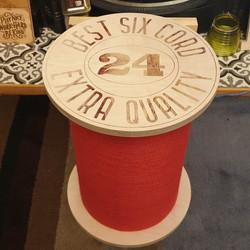 Cotton reel spool stool