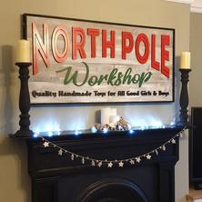 North Pole Workshop Sign