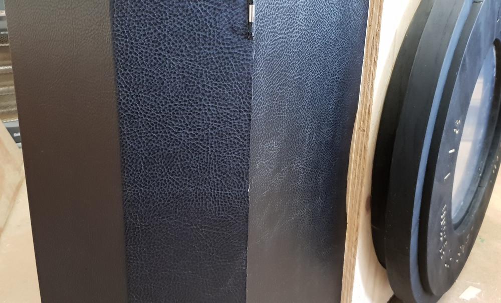Vintage Camera cupboard Leather detail