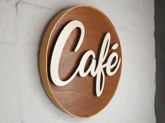 Rasied edsg Cafe sign