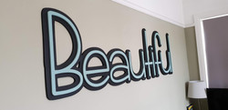 Big & Beautiful Wall Sign
