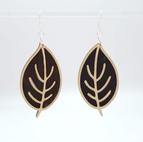 Birch and wenge earrings