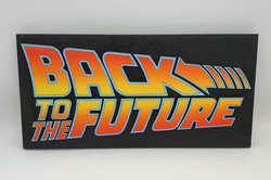 Back to the Future logo sign