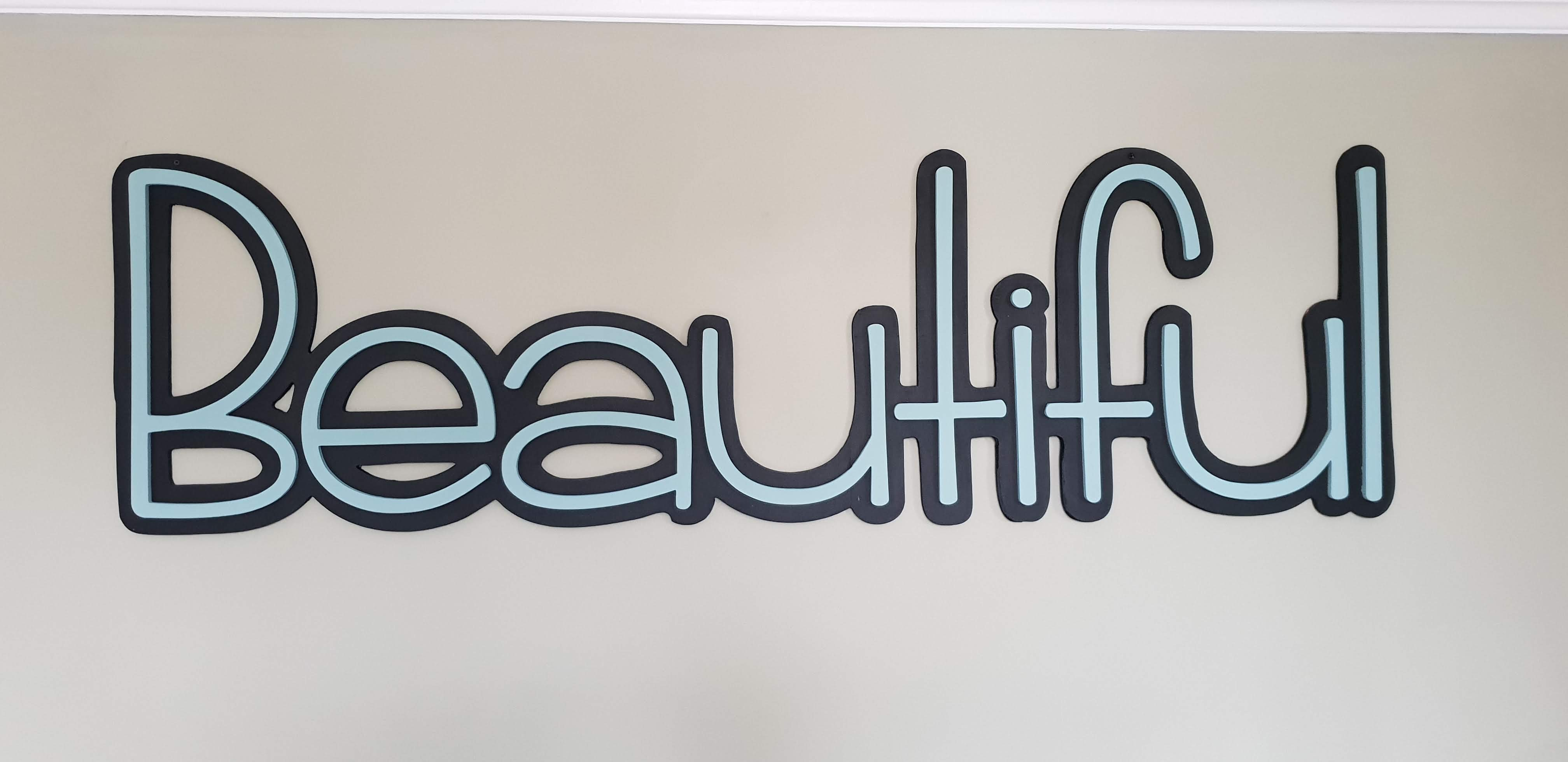 Big & Beautiful Wall Sign