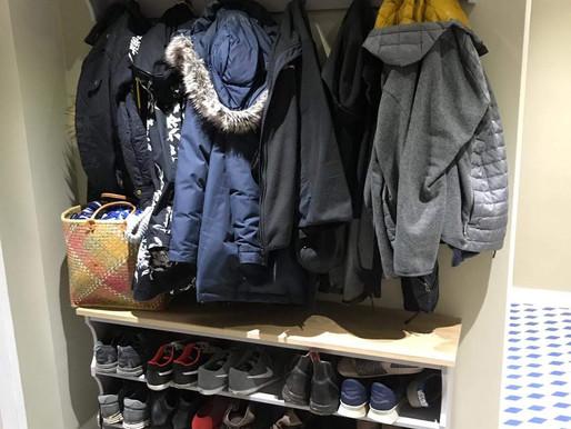 Shoe, Coat & hat racks - finished