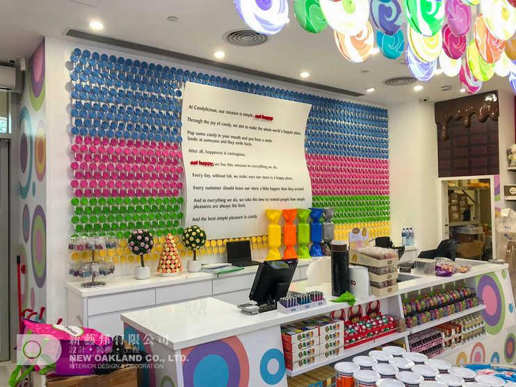 Cashier backwall - Candylicious, The Peak