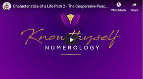 Characteristics of a life Path 2 -The Co