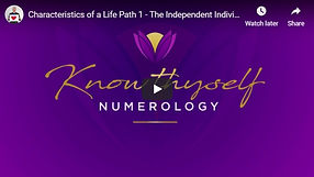 Characteristics of a life Path 1- The in