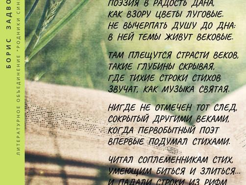 """Литературное объединение """"Родники Синегорья"""". Борис Задворняк"""