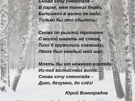 Юрий Виноградов. Снова хочу снегопада...