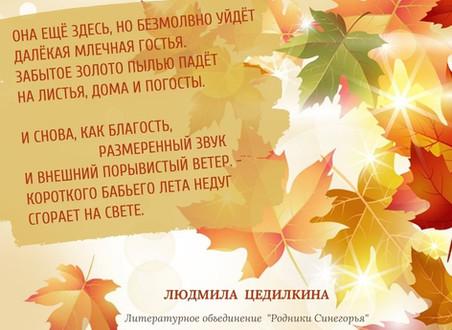 """Литературное объединение """"Родники Синегорья"""". Людмила Цедилкина"""