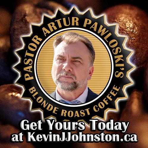 1 LB Pastor Artur Pawlowski's Blond Roast Coffee Blend