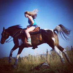 He's my wings _3 #ilovemyhorse #lovehim #horse #horselove #trailride #freedom #bliss