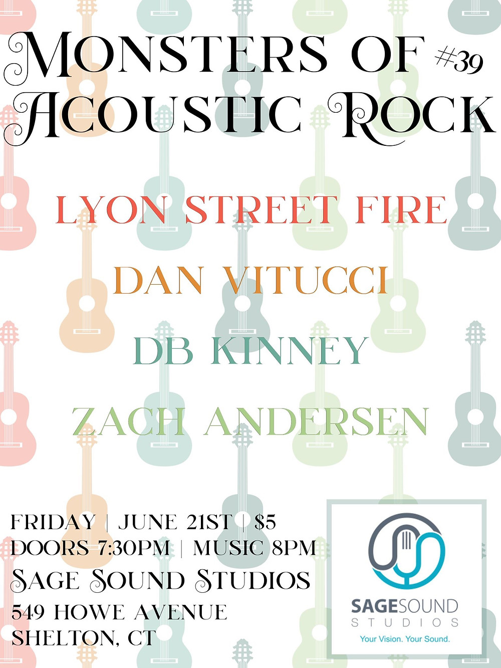 Monsters of Acoustic Rock #39 with Lyon Street Fire, Dan Vitucci, DB Kinney and Zach Andersen