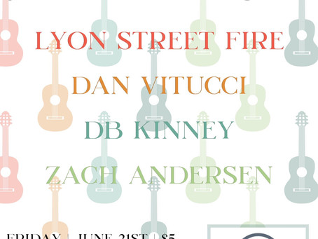 Summer solstice party with Lyon Street Fire, Dan Vitucci, DB.Kinney, and Zach Andersen @MoAR 39!
