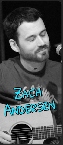 Zach Andersen rehearsing at Sage Sound Studios