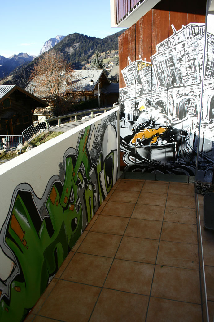 Fresque snowboard