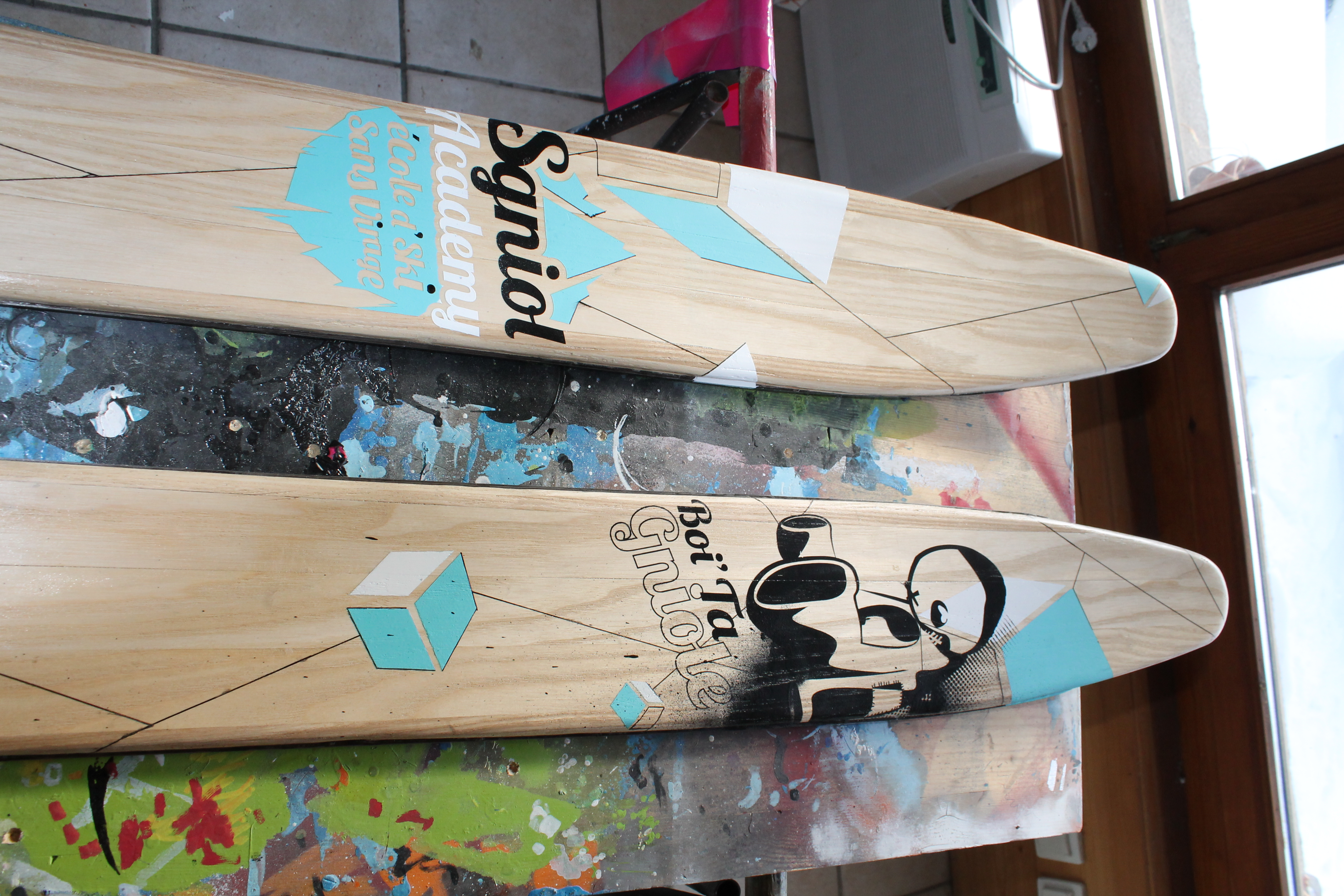 Custom de ski en bois