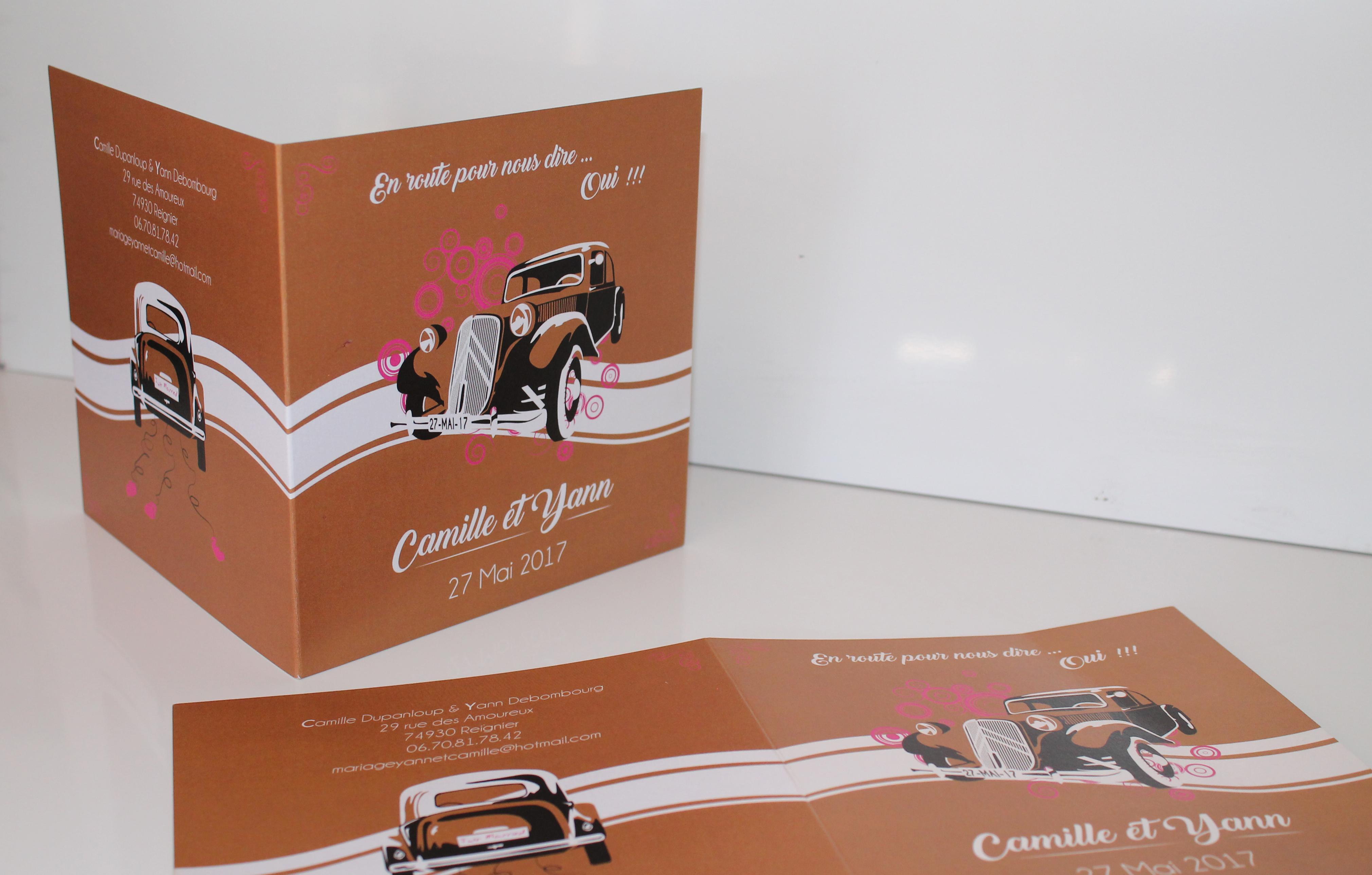 Faire-part Camille & Yann