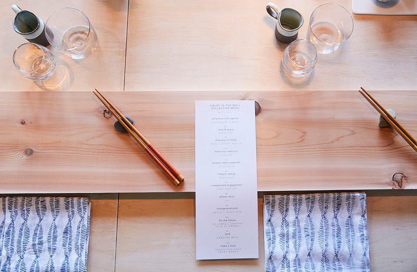 Omakase Menu - Holes in the Wall Collective