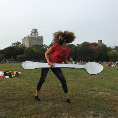 The Giant Spoon in Prospect Park Brooklyn