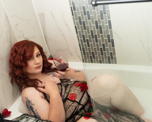 bathroom photoshoot