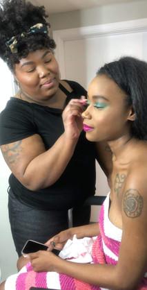 makeup artist shoot