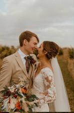 Groom and Bride Rustic wedding