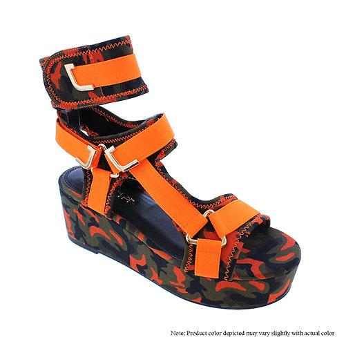 Melody-2 Orange/Green Flats