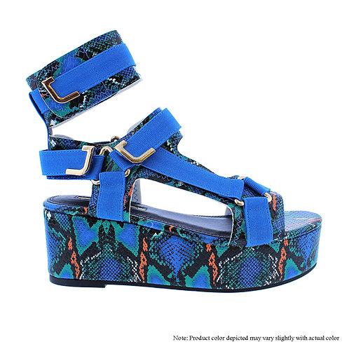 Melody-2 Blue/Green Snake Flats