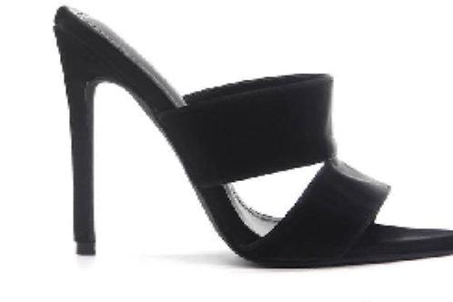Sizzle Black Mule Heel