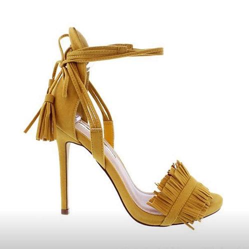 Calypso Tye Mustard Sandal Heel