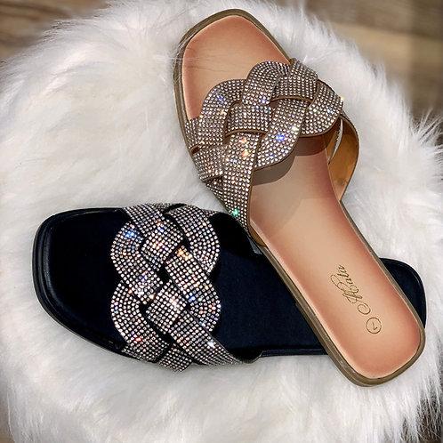 Leah Rhinestone Sandal
