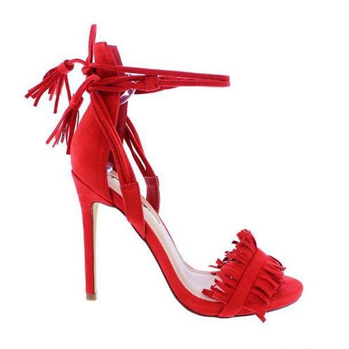 Calypso Tye Red Sandal Heel