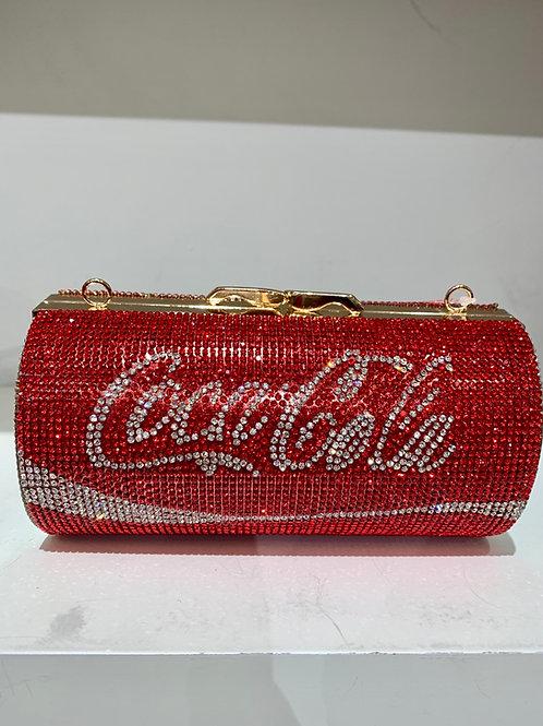 Coca Coca Rhinestone Clutch