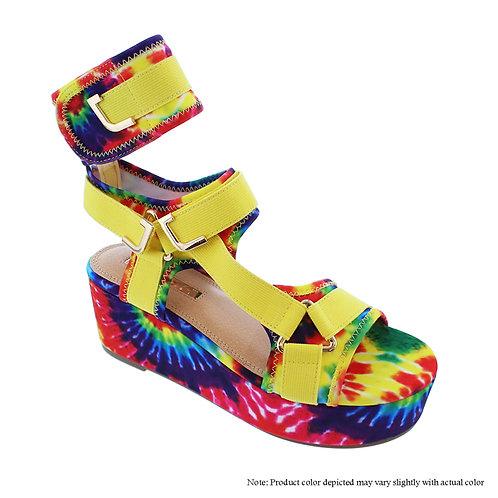 Melody-2 Rainbow Tye-Dye Flats