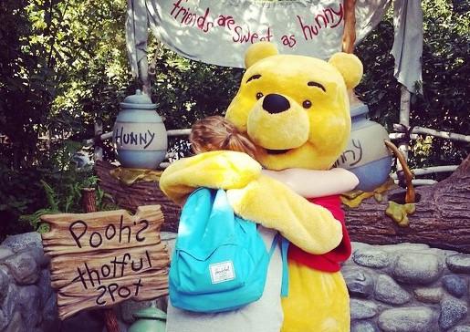 Pooh Bear at Disneyland