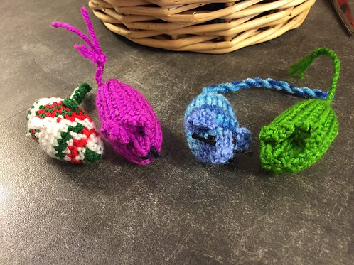 Hand Knitted Mice