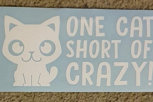 Car Sticker - ONE CAT SHORT