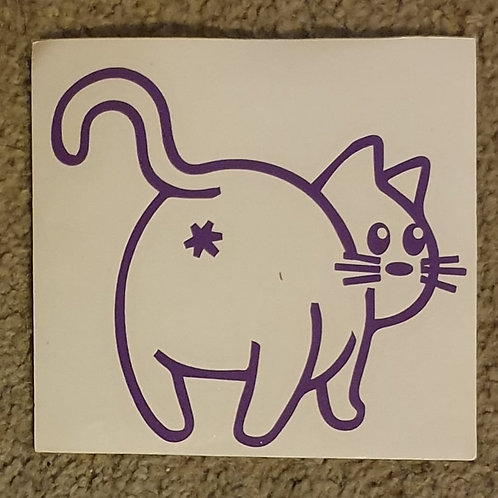 Car Sticker - CAT BUTT