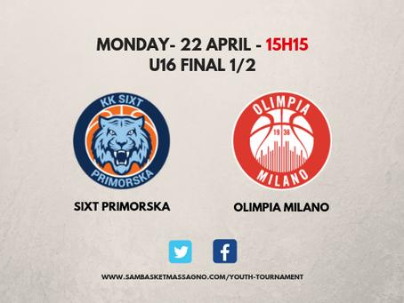 Sixt Primorska contro Olimpia Milano, la finale in diretta