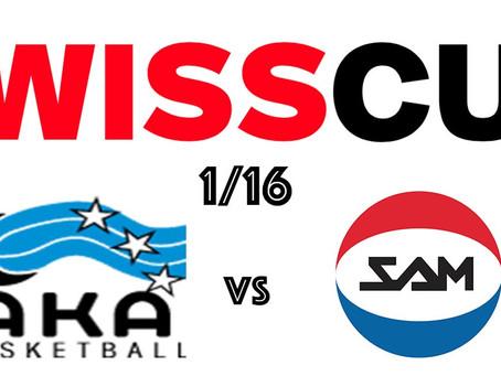 Swiss Cup: Ai 1/16 c'è l'AKA Basketball