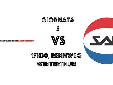 2a Giornata di SBL: si va a Winterthur!