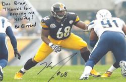 Kelvin Beachum #68 of the Pittsburgh Steelers